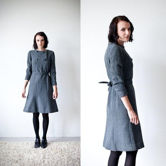 RESERVED for jensenkirstenm // Vintage Marimekko // Design Research Inc Wool Dress 1960s Authentic
