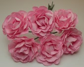 Medium Pink Ribbed Flower