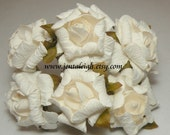 White Rolled Flowers