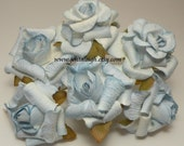 Baby Blue  Rolled Flowers