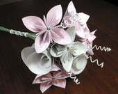 Reserved - origami paper flower bouquet in blush