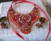 Red Bib Necklace