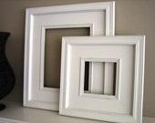 18x24 Wood Picture Frame / Plein Air Style / Black, White, Gray, Brown