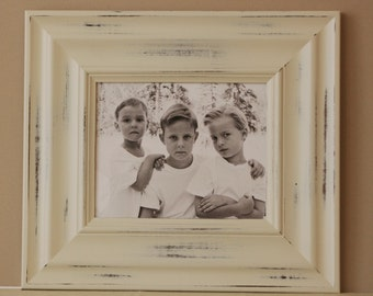 20x30 Picture Frame / Vintage White or Blue / Madera Style