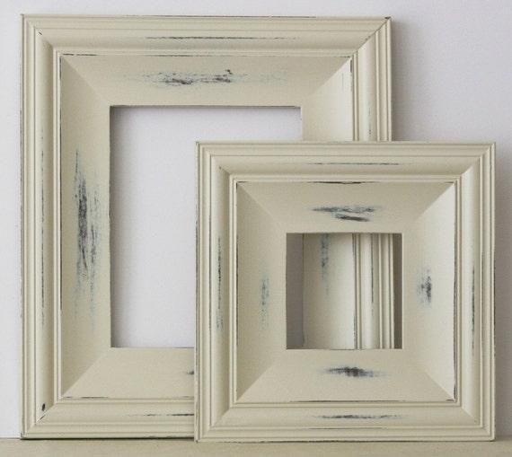5x5 Picture Frame / Vintage White on Cottage