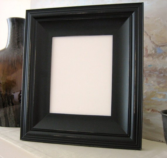 24x36 picture frame cottage style white black gray for Bungalow style picture frames