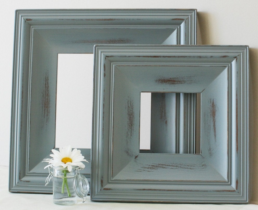24x36 picture frame cottage style vintage white or blue for Bungalow style picture frames