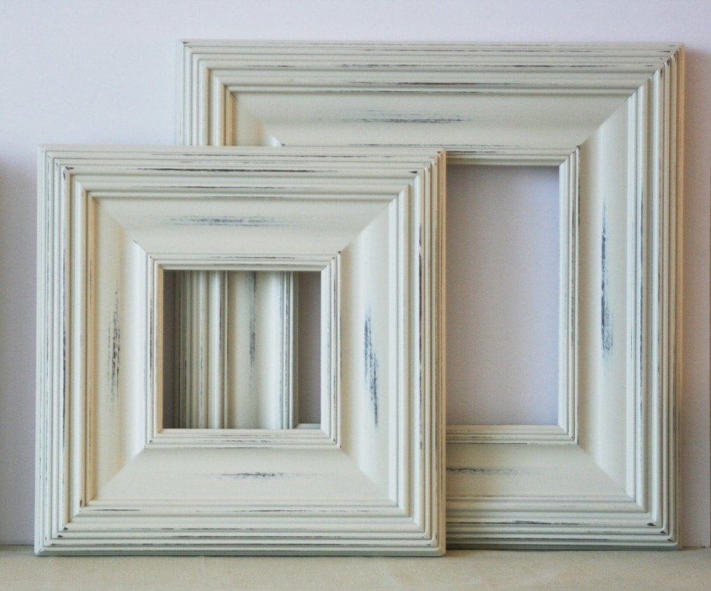 11x14 Distressed Wood Picture Frame Vintage White On