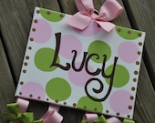 Bow Holder - SIMPLICITY Design - XLarge Canvas - Handpainted and Personalized HairBow Holder - M2M Jungle Jill by Carters