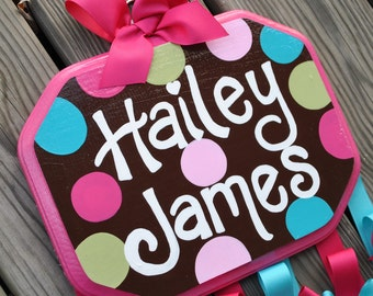 COCO DOT Design ---  Handpainted and Personalized Hair Bow Holder