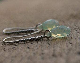 Swarovski Briolette Dangle Earring in Pacific Opal