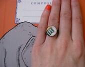 Custom Listing - Geometric Cabochon Ring