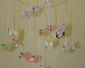 Small Pretty Owl and Bird Baby Mobile