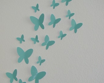 Buy 2 Sets Get 1 Set FREE 3D Butterfly Wall Art Sparkle Nursery Baby Decor Adhesive Included