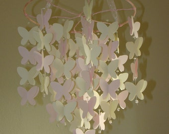 Butterfly Baby Mobile Available in any combination of solid colors