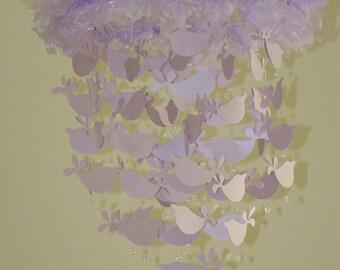 Bird Mobile Lavender Bird Baby Mobile Bird Nursery Decor Baby Shower Gift Bird Cot Mobile Shimmer Metallic Bird Baby Mobile CUSTOMIZE Colors