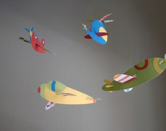4 Hanging Airplane You Pick the Colors