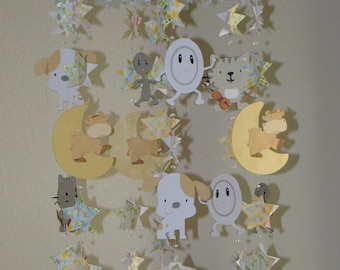 Hey Diddle Diddle Moon Stars Baby Mobile