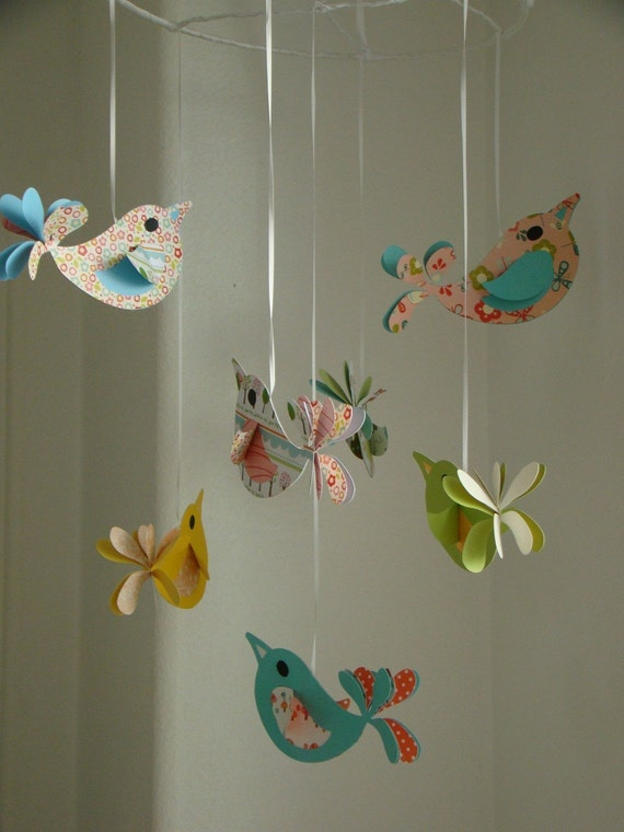 Bird Baby Mobile Pretty Birds Baby Mobile by ...