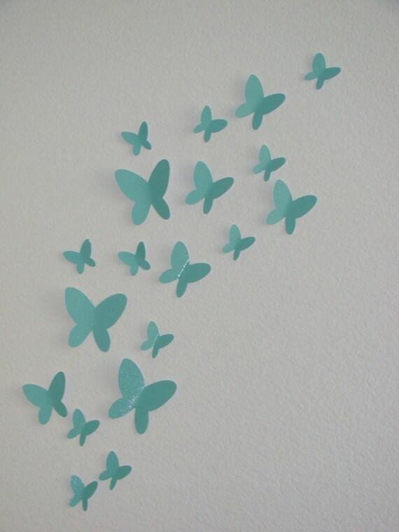 3D Paper Butterfly, Wall Art, 3D Butterflies, Nursery Wall Art, Butterfly Decal, BUY 2 Sets Get 1 FREE, Butterfly Nursery, Dorm Decor, Baby