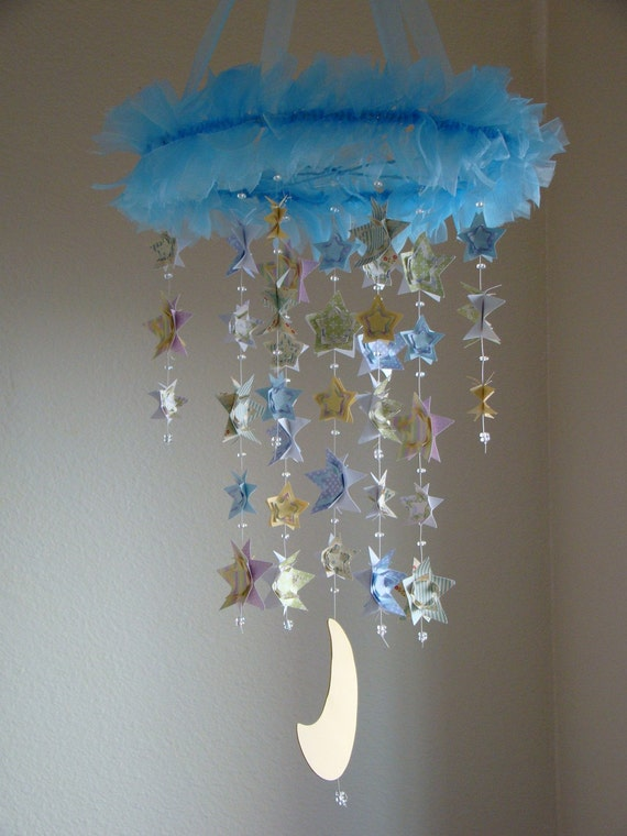 Sweet Love 3D Stars and Moon Baby Mobile