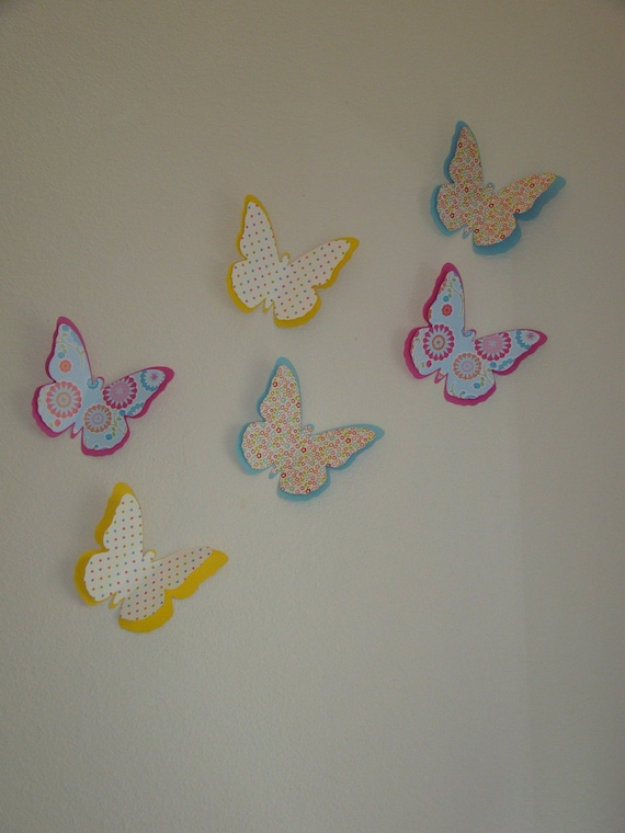 3d wall art decor pretty colorful butterflies for 3d wall butterfly decoration