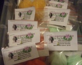2- 3oz Combo Colored Packs Fun Kids soaps scented like grape. Suprise inside toys Frog Shaped Soaps.