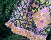 Lichen and Ivy ... A-Line Sunset Hued Patchwork Skirt