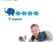 LS Original Design Elephant Wall Decal Animal Wall Decal Wall Sticker Children Wall Decals