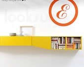 Personalized Letter Monogram Wall Decal Initial Wall Decal Ring Name Modern Wall Decal Children Wall Decal Kids Wall Stickers Nursery
