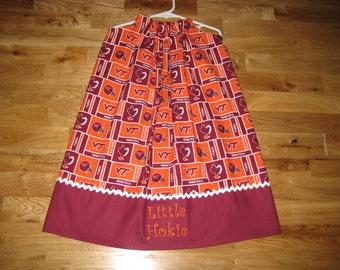 Virginia Tech Hokie Pillowcase Dress