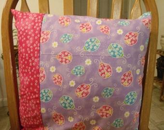 SALE 16x16 ladybug decorative pillow cover