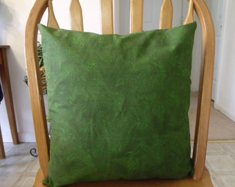 16x16 green leaves pillow cover