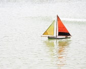 Orange Wood sailing boat (childhood memories), Paris, France - 8 x 10 - Fine Art Photography print - French Home decor Children Wall Art