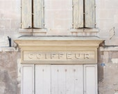 Hair-Dresser Sign French - Provence, South of France - 8 x 10 - Fine Art Photography print - French Home decor Wall art Photo pastel