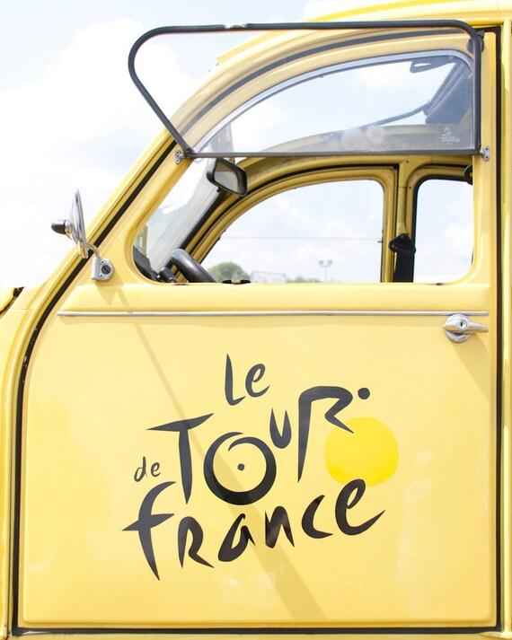 Tour de France 2CV Citroen yellow car - 8 x 10 - Fine Art Photography print - Affordable home decor