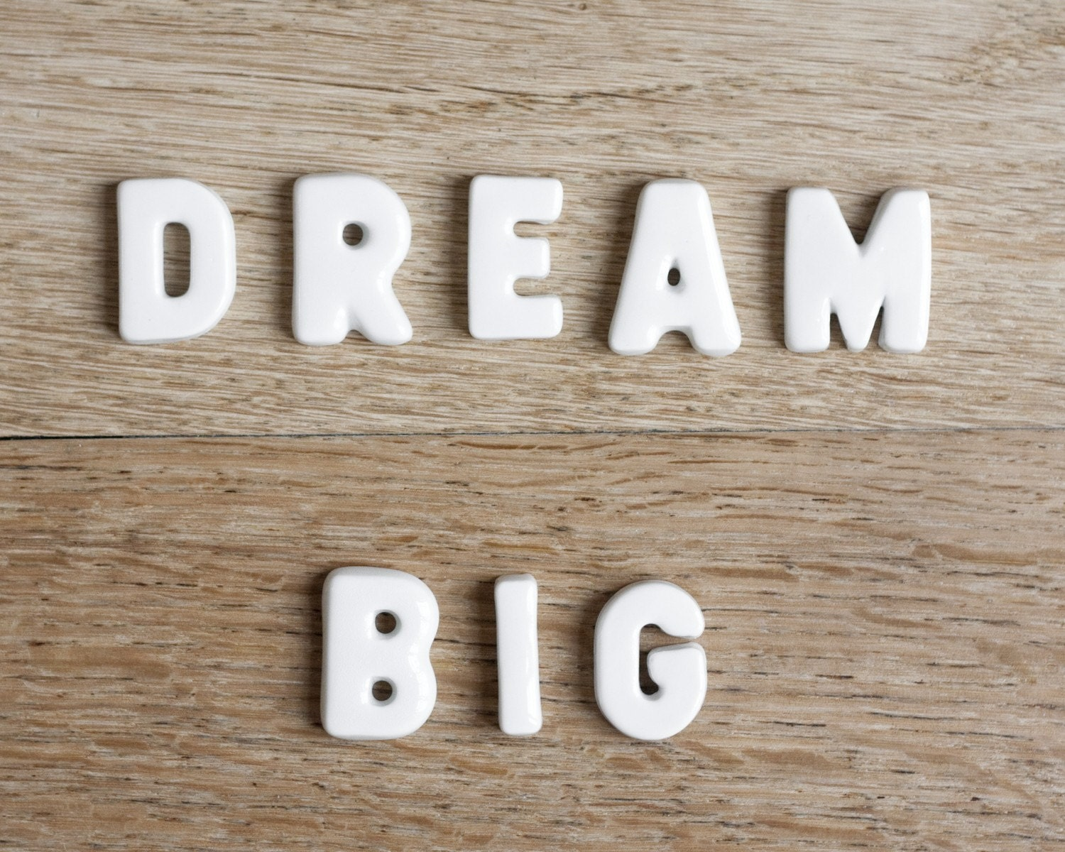 inspirational quote dream big typography photography by