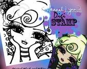 PRINTABLE Digi Stamp Haunted House Vampire Coloring Page Fun Fantasy Art Hannah Lynn