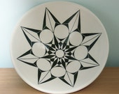 Black & White Hand Painted Artisan Bowl - Free Shipping