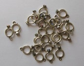 4 Engagement Ring Charms for Jewelery, Wedding or Home Decor or Costume Design