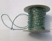 5 meteres Seafoam Sparkle Faux Beaded Ribbon by Mokuba for Costume, Fashion or Jewelery Design