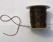 5 meteres Brown Sparkle Faux Beaded Ribbon by Mokuba for Costume, Fashion or Jewelery Design