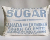 Sugar Sack Pillow Cover Farmhouse Chic