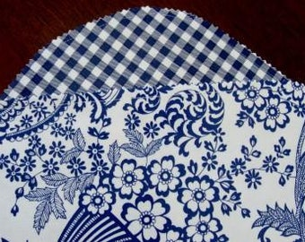 Delft Blue and White Oilcloth Placemats
