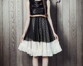 Satin and Lace Party Dress