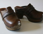 Fab Vintage 70s Hippie Boho CLOGS Made in Italy