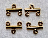 2 Pcs - 14k Gold Filled Connector End Bars - 12x6mm - 2 to 1 End Bars -  Wholesale Price