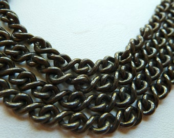 Black Figure 8 Chain Link - 10mm - Strong CLOSED Links - Qty 3 feet