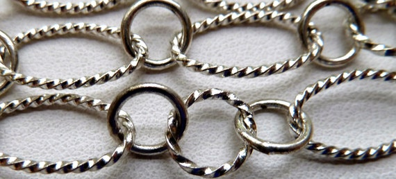 4 Feet  Silver Plated Chain Link - Multi Size Round and Oval,  Smooth and Textured CLOSED Links