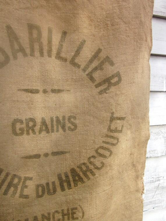 30% off : Genuine Vintage French Burlap Grain Sack